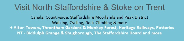 Visit North Staffordshire - walking, cycling, Alton Towers, Threntham Gardens, Potteries and more